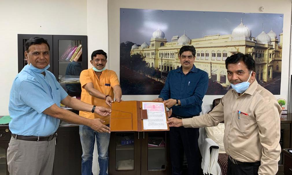 Technology transfer agreement between University of Lucknow and Toral Herbal Pvt. Ltd. for the Sanitizer prepared by Dept of Chemistry, University of Lucknow. This is first ever commercial agreement done by University of Lucknow to  fetch revenue out of its research output.