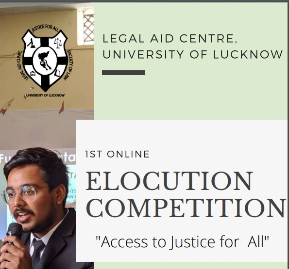 Online Elocution Competition by Legal Aid Centre, University of Lucknow